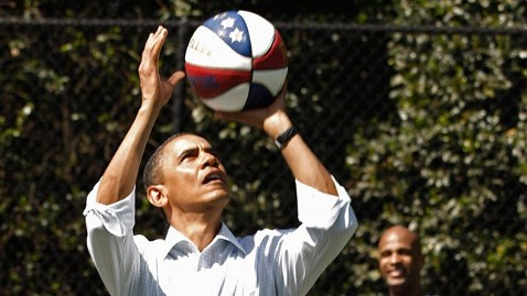 gty barack obama basketball ll 120312 wblog Hoopster in Chief Obama Offers NCAA Bracket Challenge