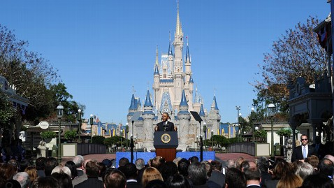 gty barack obama disney world thg 120119 wblog Obama Says U.S. Open for Business