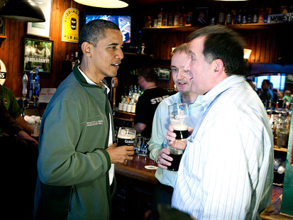 gty barack obama dubliner jt 120317 main An Extended St. Patricks Day for Obama