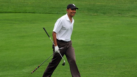 gty barack obama golf jt 120617 wblog Golfer in Chief? Obama Hits 100th Time on the Links