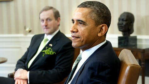 gty barack obama irish dm 120320 wblog Obama Welcomes Irish PM to White House for Extended St. Pattys Day Celebration