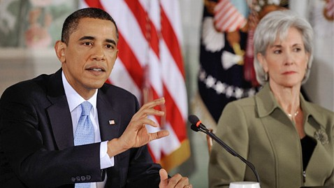 gty barack obama kathleen sebelius ll 111209 wblog Womens Groups Incensed Over Obama Morning After Pill Decision