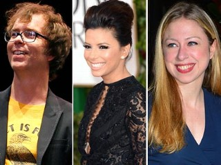 PHOTO: Ben Folds, Eva Longoria, Chelsea Clinton