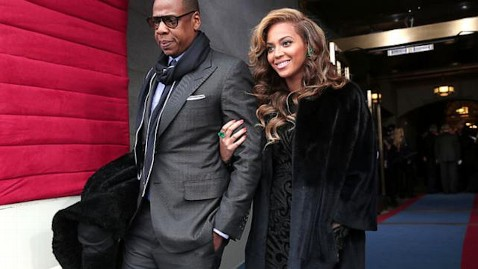 gty beyonce jay dm 130121 wblog Inauguration 2013 in Social Media: Memes, Photos, Stats