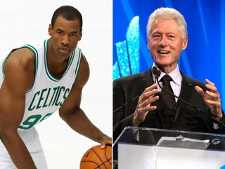 PHOTO: Boston Celtics' Jason Collins poses during Celtics NBA basketball media day at the team's training facility in Waltham, Mass., Sept. 28, 2012. Former President Bill Clinton onstage during the ...