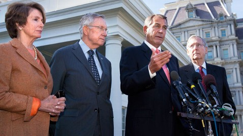 gty boehner reid pelosi mcconnell dm 130228 wblog Votes on Sequester Bills Set Amid Gloom in Senate
