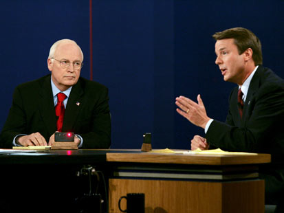 gty cheney edwards debate jef 111110 main Great Debate Gaffes: From Nixon to Ford to Jan Brewer, Rick Perrys Oops Moment Not the First