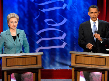 gty clinton obama debate jef 111110 main Great Debate Gaffes: From Nixon to Ford to Jan Brewer, Rick Perrys Oops Moment Not the First