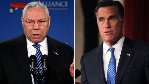 gty colin powell mitt romney jp 120524 wblog Why Colin Powell Bashed Mitt Romneys Foreign Policy Advisers