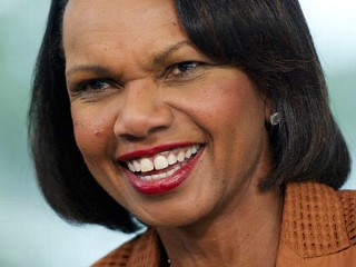 PHOTO: Condoleezza Rice, former U.S. secretary of state, speaks during a Bloomberg Television interview inside the Bloomberg Link during the Republican National Convention (RNC) in Tampa, Florida, ...