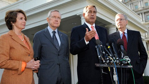 gty congress leaders kb 121119 wblog Fiscal Cliff Talks Stall as Democrats, GOP Dig In on Tax Rates