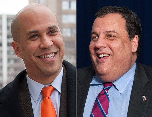 gty cory booker chris christie lpl 130207 Cory Booker, Amid Christie Weight Flap, Starts Diet Program in Newark