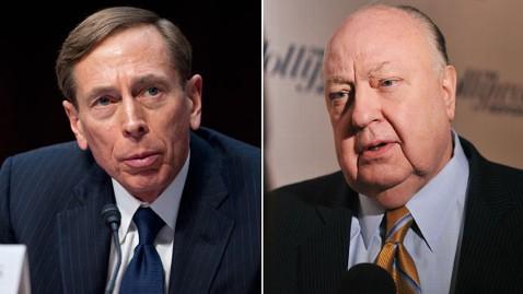 gty david petraeus ailes jp 121204 wblog Petraeus Turned Down Fox News Presidential Run Deal