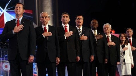 gty debate national anthem nt 111122 wblog Immigration, Racial Profiling, Patriot Act Divide Republicans At GOP Debate