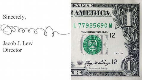 gty dollar bill mi 130109 wblog PM Note: Loop dy Lew, Solis Resigns, Happy Birthday, Richard Nixon, Biden and Cuomo on Guns