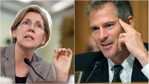 gty elizabeth warren scott brown thg 120123 wblog Scott Brown, Elizabeth Warren Make Pact to Fight Super PACs