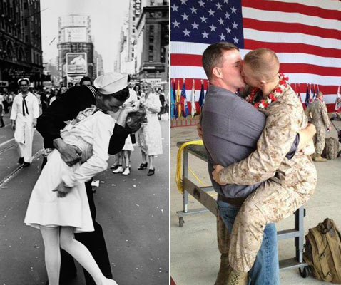 gty gay marine life kiss nt 120227 wblog Homecoming Photo of Gay Marine Kissing Boyfriend Goes Viral