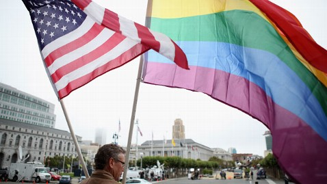 gty gay pride flags nt 120621 wblog Poll Tracks Dramatic Rise In Support for Gay Marriage