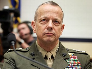 PHOTO: U.S. Marine General John Allen, the chief U.S. and NATO commander in Afghanistan, listens during a hearing before the House Armed Services Committee, March 20, 2012, on Capitol Hill in ...
