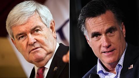 gty gingrich romney jt 120204 wblog Newt Gingrich: Mitt Romney Not a Convincing Frontrunner