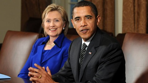 gty hillary clinton barack obama nt 111227 wblog Obama, Hillary Clinton Named Most Admired in Gallup Poll