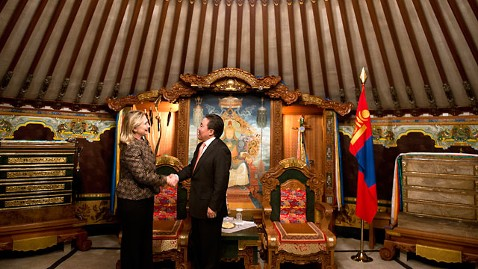 gty hillary yurt mr 120709 wblog Hillary Clinton in Mongolia: Diplomacy in a Yurt