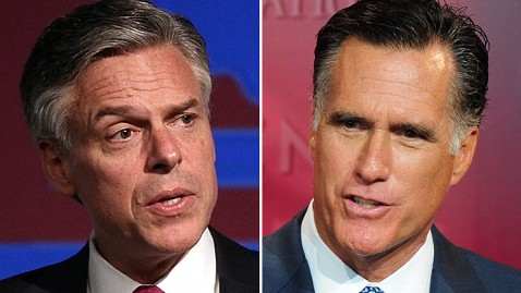 gty huntsman romney tk 120110 wblog Rick Santorum Says Jon Huntsmans Backing of Former Foe Mitt Romney Would Just Be Moderates Backing Moderates