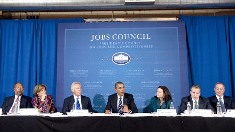 gty jobs council meeting president thg 120522 wblog Obama Jobs Council Has Buyout Execs Despite Bain Attacks