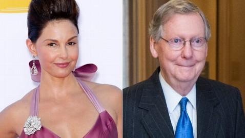gty judd mcconnell mi 130222 wblog Ashley Judd Weighs Senate Bid as McConnell Does Harlem Shake