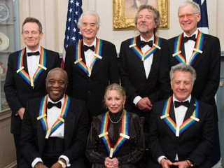 PHOTO: The State Department dinner for The Kennedy Center Honors were held December 1, 2012. The honorees are, clockwise from top, John Paul Jones, Jimmy Page and Robert Anthony Plant of Led ...
