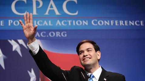 gty macro rubio cpac2 jp 120209 wblog Marco Rubio Endorses Mitt Romney, Avoids Vice Presidential Speculation