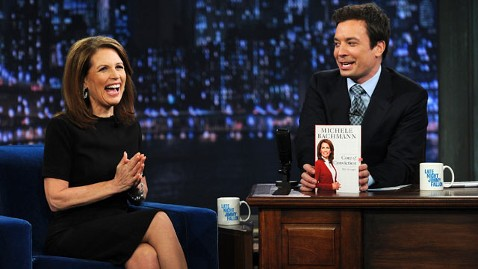 gty michele bachmann jimmy fallon tk 111122 wblog Bachmann Calls Fallon Song Choice Sexist, Double Standard for Conservatives