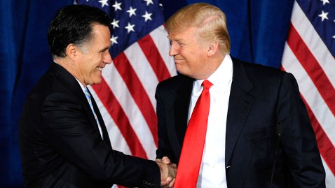 gty mitt romney donald trump nt 120202 wblog Trumps On His Side, But Mitt Romneys Antagonists Remain (The Note)