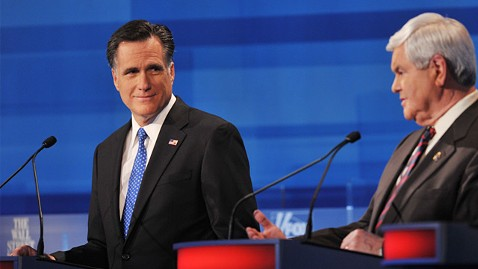 gty mitt romney newt gingrich ll 120116 wblog Politically Punchy in the USA; Whos Fighting Whom This Week