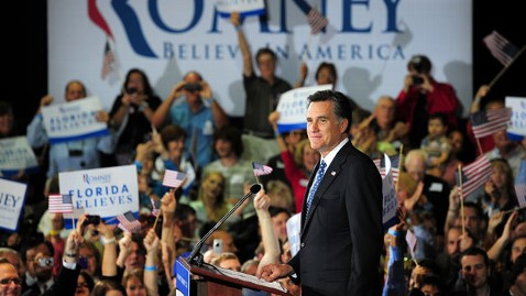 gty mitt romney win tk 120131 wblog Florida Cements Mitt Romneys Front Runner Status (The Note)