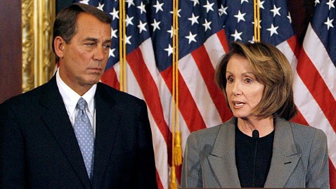 gty nancy pelosi john boehner nt 120301 wblog House Passes 90 Day Highway Extension; Pelosi Blasts Republicans
