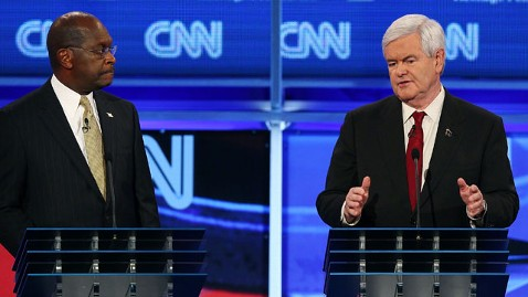 gty newt gingrich herman cain nt 111122 wblog Special Delivery: Cain Sends 9 9 9 Newts Way