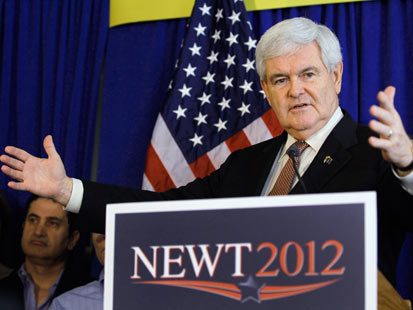 gty newt gingrich thg 120124 main Newt Gingrich Draws Largest Crowd Of His Campaign And Mocks Planet Obama