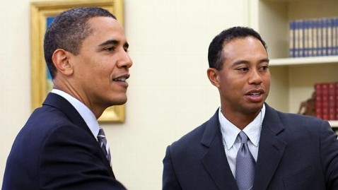 gty obama tiger woods jef 130218 wblog Obama and Tiger, the Life of Par