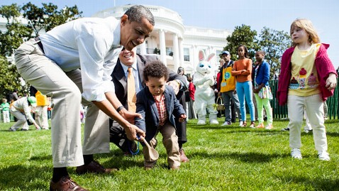 gty obama white house easter Egg roll thg 130320 wblog Sequestration Hits Communities, but Not White House Egg Roll