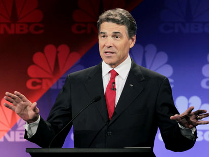 gty rick perry jef 111110 main Great Debate Gaffes: From Nixon to Ford to Jan Brewer, Rick Perrys Oops Moment Not the First