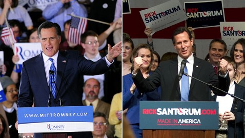 gty rick santorum mitt romney rally nt 120306 wblog Better Off, Better Educated Voters Boost Romney in Illinois