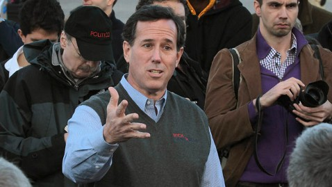 gty rick santorum thg 120102 wblog Santorum Defiant After Lashing Out At Reporter