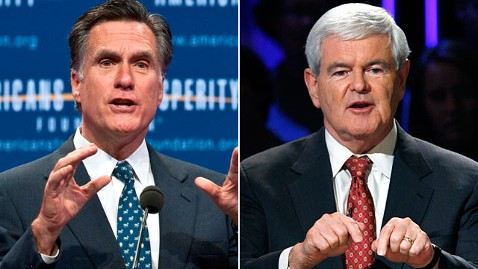 gty romney gingrich jp 111117 wblog Matt Dowd on the 2012 GOP: Its A Two Person Race