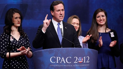 gty santorum cpac tk 120210 wblog Santorum Lifts CPAC Crowd, Focuses on Obama and Romney
