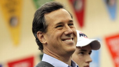 gty santorum tk 120103 wblog Rick Santorum Takes His Turn On Top (The Note)