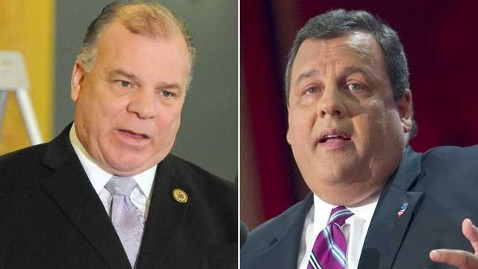 gty stephen sweeney chris christie thg 130108 wblog Chris Christie Foe Claims Christie Prayed for Superstorm Sandy