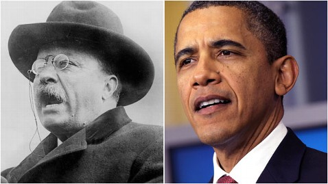 gty teddy roosevelt barack obama thg 111205 wblog Obama Channels Roosevelts Populist Agenda: This Is Make or Break Moment For Middle Class