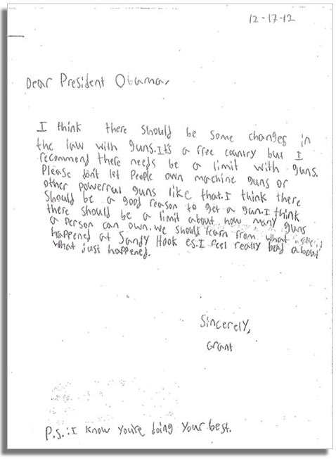 ht 2 grant dm 130116 vblog Kids Write Letters to Obama on Gun Control