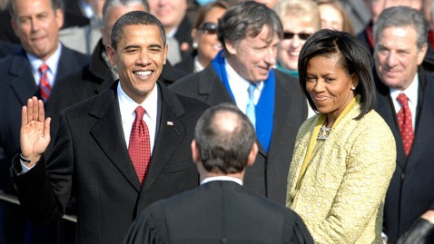 ht barack obama 2009 inauguration oath jt 121201 wblog When Inauguration Day Falls on a Sunday, the Constitution Wont Wait
